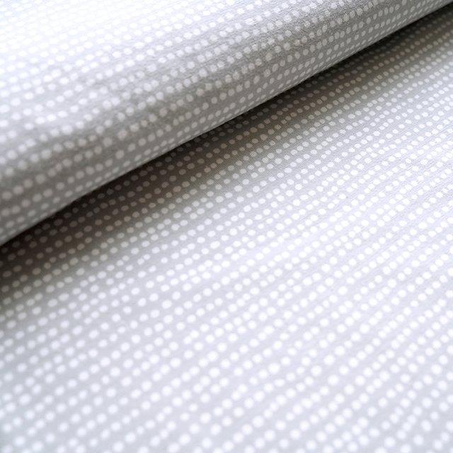 Biojersey Dotted Line -  hellgrau mit offwhite (grau/weiß)