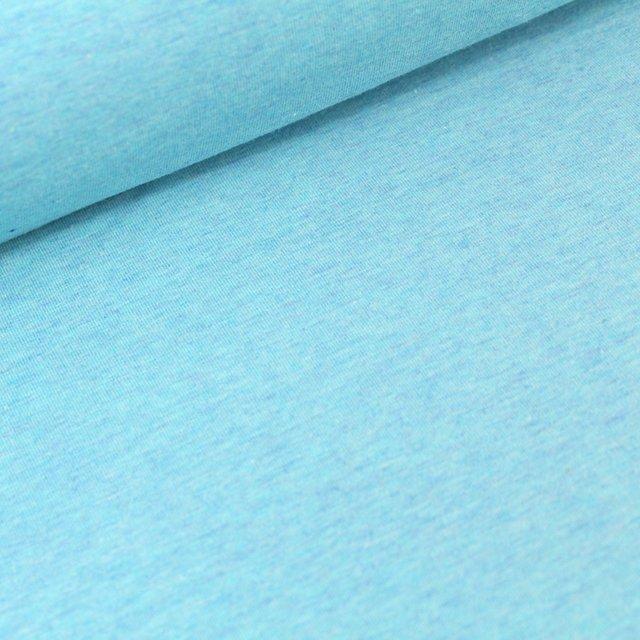 Biojersey uni - hellblau melange (antiqua)