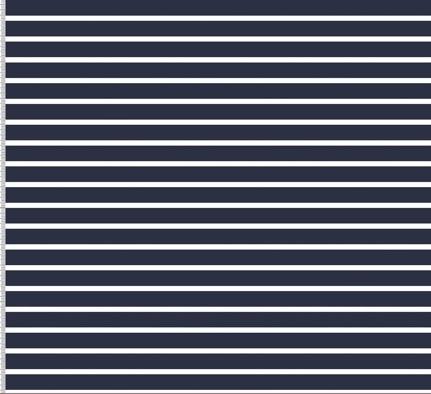 Biojersey Streifen - dunkelblau/weiß (navy)