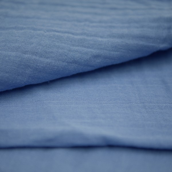 Musselin Tuch L in jeans aus Bio-Baumwolle