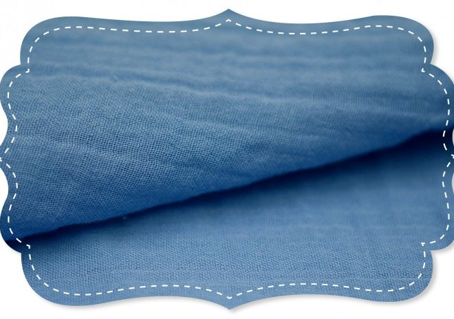Bio-Baumwollmusselin - jeansblau
