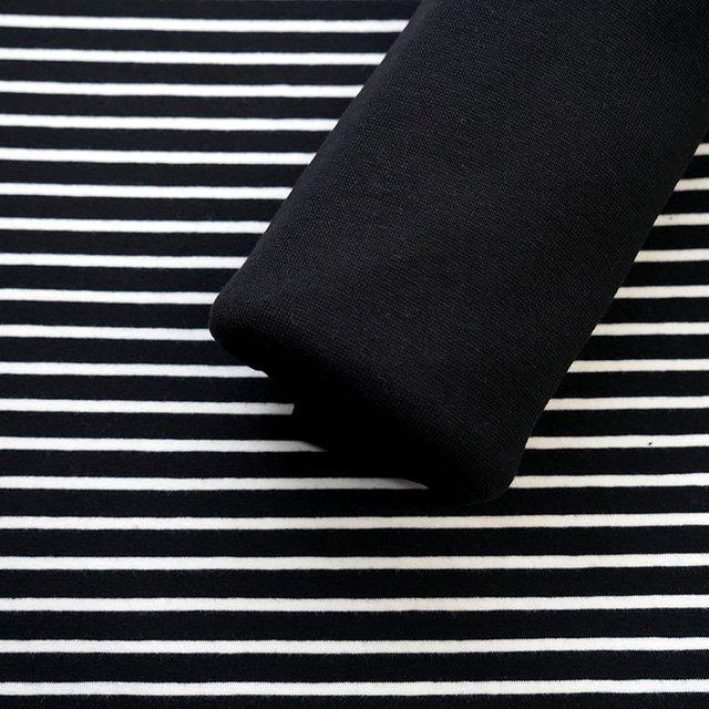 Biojersey Streifen - schwarz-weiß