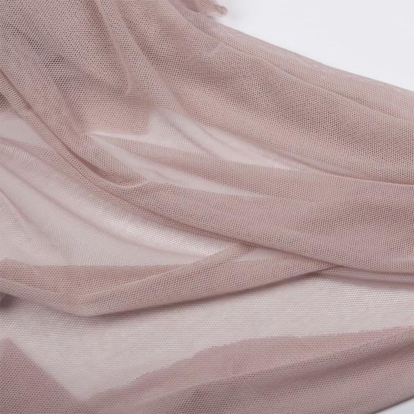 Soft Tüll Stoff uni- adobe rose