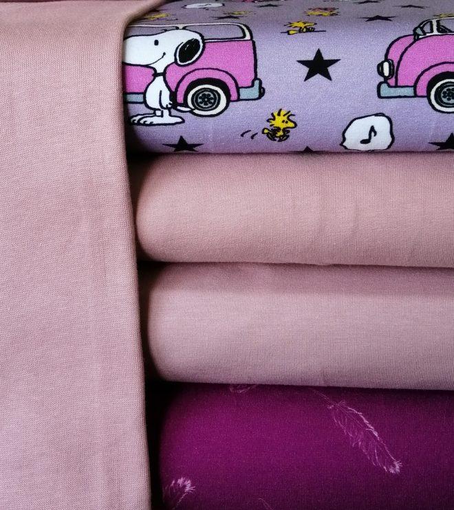 Biojersey Snoopy und Minivan flieder