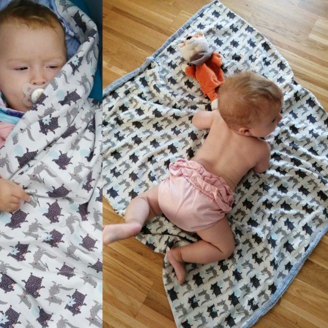 Kuschelige Babydecke in 3 Größen, große Stoffauswahl