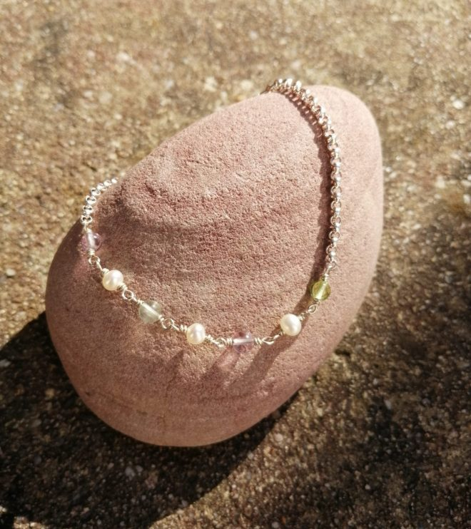 Armband Fluorit Perle