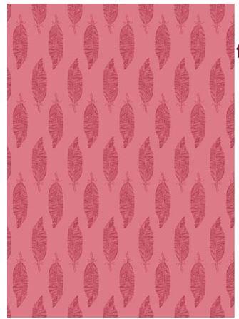 Biojersey Feder rund auf intensiv rosa