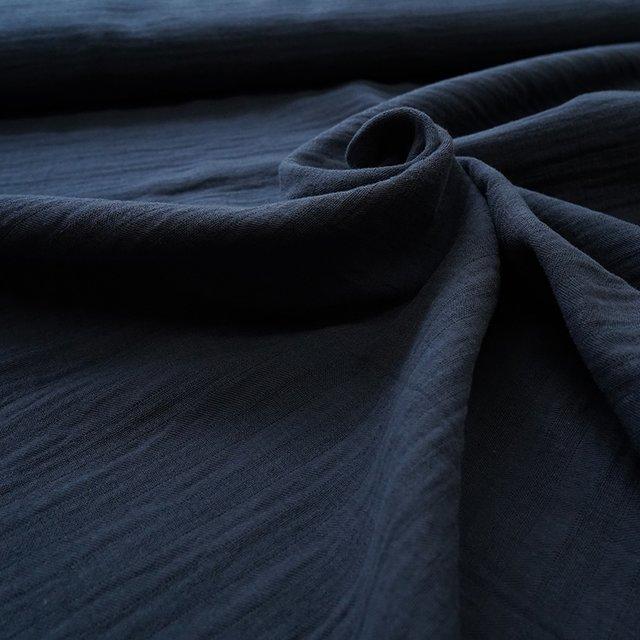 Bio-Baumwollmusselin - dunkelblau