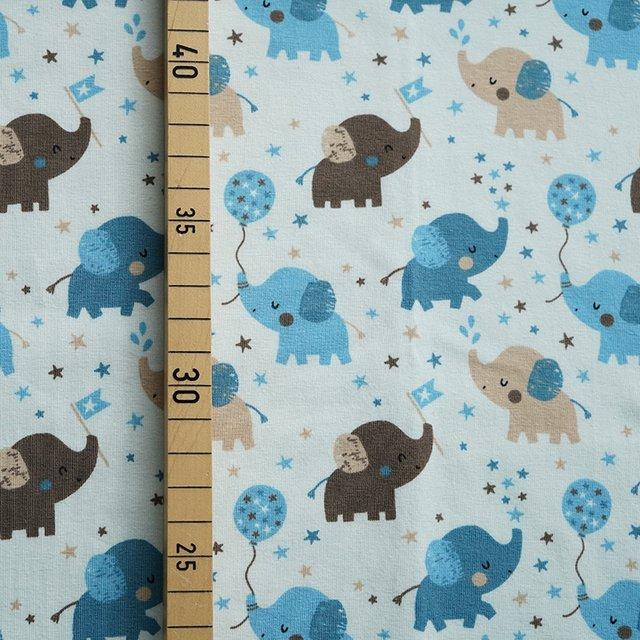 Bio-Jersey Babyelefant grau