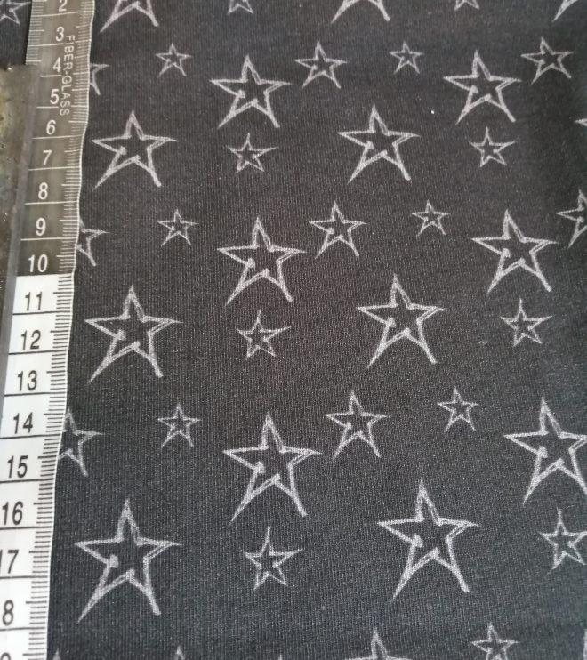 Biojersey Sterne auf anthrazit
