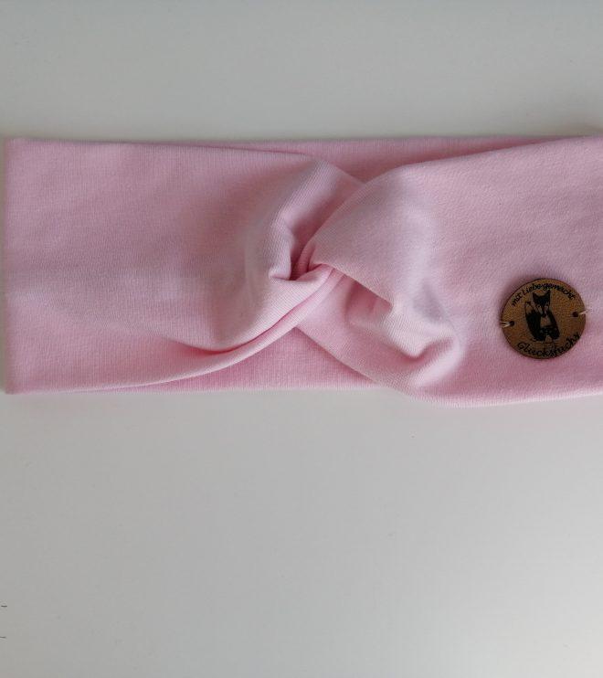 Haarband Bio-Jersey rosa 0-13 Jahre