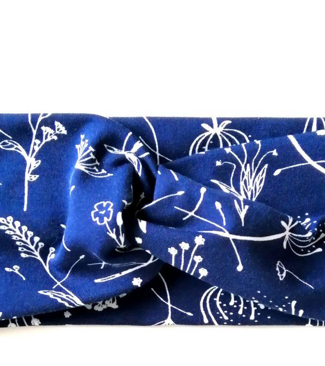 Haarband Bio-Jersey Blumen