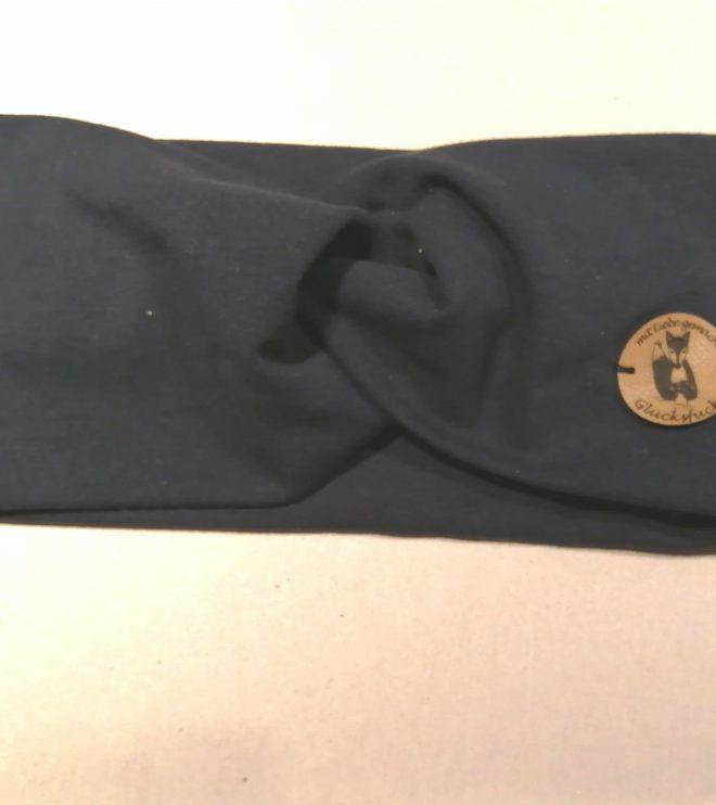 Stirnband Erwachsene Bio-Jersey navy (dunkelblau)