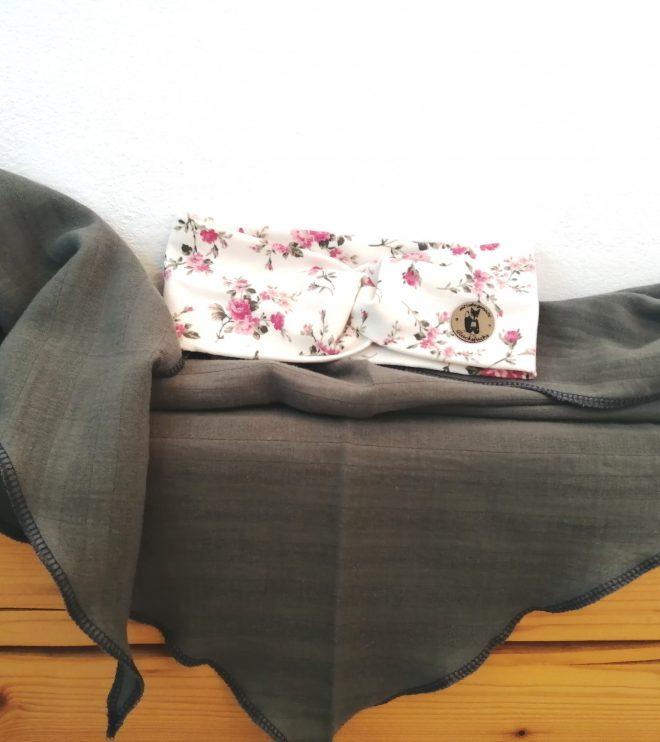 Musselin Tuch L (unser Favorit) in khaki aus Bio-Baumwolle