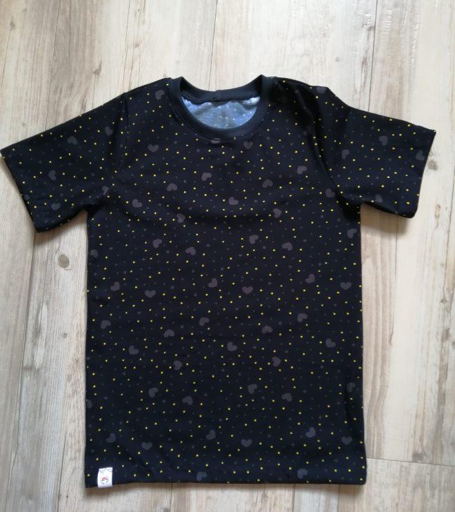klassisches T-Shirt KURZARM ab Gr. 56 aus Biojersey - viele Stoffe zur Auswahl