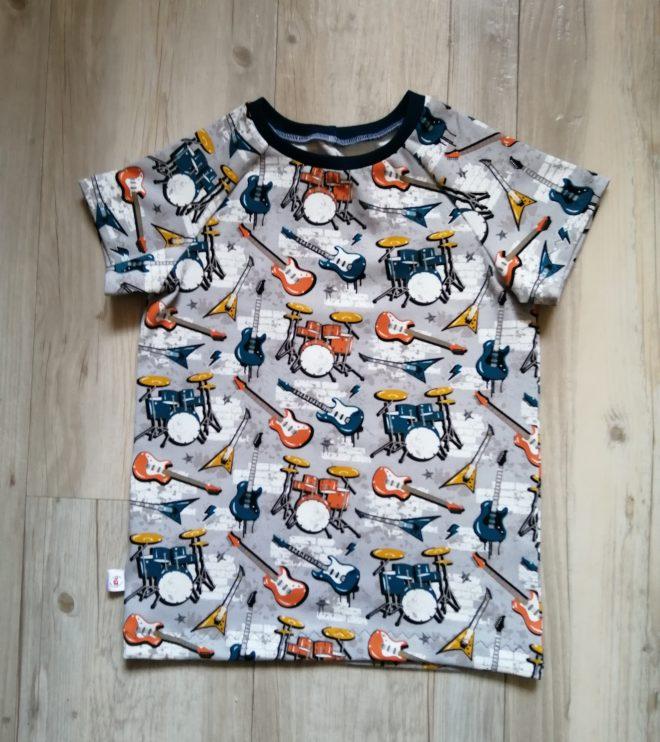 T-Shirt KURZARM mit Raglanärmeln ab Gr. 56 aus Biojersey - viele Stoffe zur Auswahl